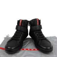 PRADA系带高帮皮质休闲鞋4T 2787