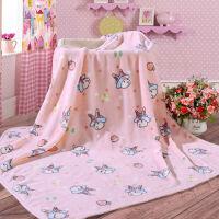[当当自营]富安娜家纺馨而乐家居儿童毛毯子午睡毯浴袍卡通披肩毯 兔兔乐园 粉色 100*100