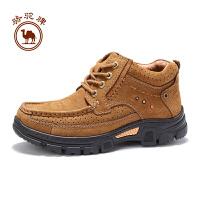 骆驼牌男鞋  冬季日常休闲高帮系带厚底户外休闲鞋