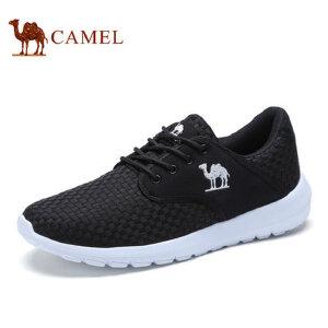 camel骆驼男鞋 2017春季新品 轻便透气运动休闲鞋简约编织跑步鞋