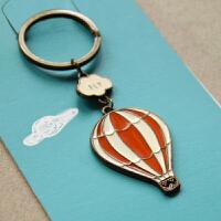 木墨原创 原创旅行系列古铜钥匙扣-热气球 创意情侣钥匙圈 生日礼物 挂件