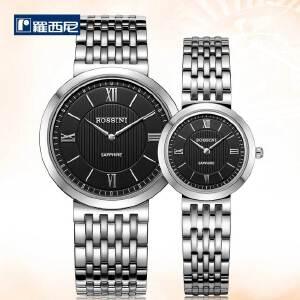 罗西尼正品精钢石英手表超薄商务情侣腕表716387/516388