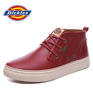 Dickies帝客 男鞋美式潮流休闲鞋头层油蜡皮时尚户外板鞋163M50LXS95