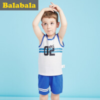巴拉巴拉儿童短袖套装男小童宝宝 2017夏季新款短袖幼童男背心两件套