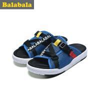 巴拉巴拉童鞋男童拖鞋中大童鞋子2017夏新款拖鞋儿童布鞋男休闲