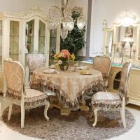 加大椅子套餐椅垫欧式高档餐桌布椅垫椅套套装田园布艺连体餐椅套