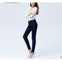 女裤高腰牛仔裤女新款小脚裤大码弹力女长裤修身显瘦铅笔裤