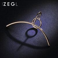 ZENGLIU个性简约耳环夹款无耳洞女 长款耳坠韩国气质饰品耳骨夹