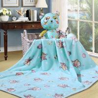 [当当自营]富安娜家纺馨而乐家居儿童毛毯子午睡毯浴袍卡通披肩毯 兔兔乐园 蓝色 100*100