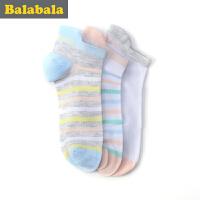 巴拉巴拉童装女童袜子中大童童袜 2017夏季新款袜儿童 棉袜女3双装