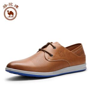 骆驼牌 春夏季新款男鞋 流行系带男鞋 日常休闲男鞋耐磨