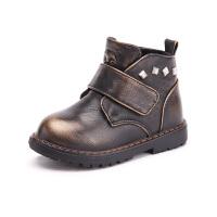 木木屋女童鞋冬季新款公主鞋韩版男童加绒单鞋 儿童保暖皮鞋