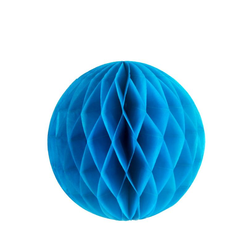 儿童手工制作蜂窝纸球装饰幼儿园布置彩球元旦灯笼挂饰diy用品_蓝