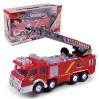 儿童汽车电动车玩具 喷水音乐消防车仿真玩具车