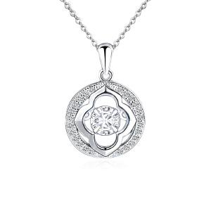 芭法娜 环绕幸福 s925银时尚流行灵动吊坠 送银链 会动的锆石