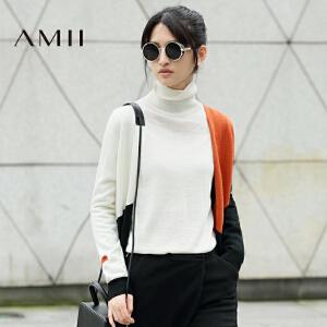 【AMII超级大牌日】[极简主义]2017年春季女装新款V领大码中长款毛针织开衫薄上衣