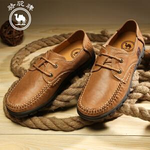 骆驼牌 春季新款时尚日常休闲男皮鞋英伦简约系带流行男鞋