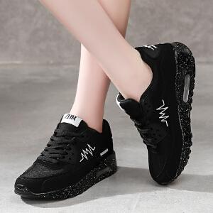 2017夏季新款网布透气时尚平底运动鞋休闲鞋韩版厚底单鞋潮流低帮鞋女鞋AL02