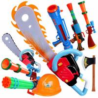 熊出没玩具枪套装儿童光头强电锯帽子电动猎枪4-6男孩玩具3岁