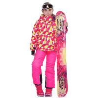 滑雪服 加厚儿童冬季户外滑雪套装女童