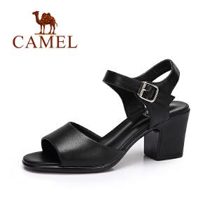 Camel/骆驼女鞋 夏季新品时尚简约凉鞋女 韩版百搭露趾凉鞋