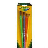 rayola绘儿乐宝宝绘画涂鸦工具儿童画刷4件水粉刷笔画笔