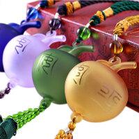 汽车挂饰香水琉璃挂式摆件小苹果礼盒装送香水代写礼品卡