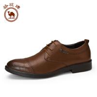 骆驼牌 秋款新款男士商务皮鞋 时尚休闲低帮系带男皮鞋