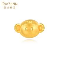 DIASENN/德诚珠宝小猴子3D硬金吊坠 黄金足金挂坠简约大方送女友