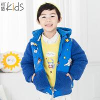 初语童装 冬 加厚男童羽绒服冬新款儿童羽绒服 T5409400021