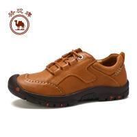 骆驼牌 新品男鞋舒适复古手工缝线鞋耐磨系带日常休闲鞋