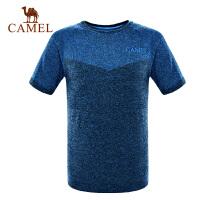 camel骆驼户外男女款运动T恤 耐磨圆领春夏短袖运动T恤