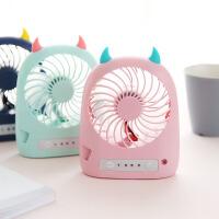 【包邮】多功能创意小怪兽电风扇 可充电家用宿舍桌面静音USB迷你小型风扇