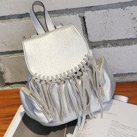 莫尔克(MERKEL)新款时尚韩版女士流苏双肩包小百搭休闲女背包书包旅行背包