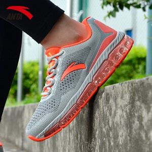安踏女鞋跑鞋春季轻便透气减震全掌弹力胶运动休闲鞋跑鞋12625501