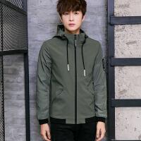 夹克新款商务休闲韩版修身棒球立领外套男装
