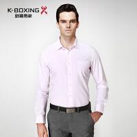 劲霸长袖衬衫 2016新款中年男士修身纯棉衬衣 正品男装 BAXY3389