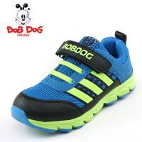 bobdog童鞋 男童女童秋冬新款网面儿童运动鞋