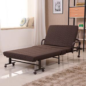 未蓝生活三段结构折叠床 单人午休值班加固金属床 床垫宽90cm厚8cm VL060
