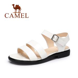 Camel/骆驼女鞋 2017春夏新款 时尚简约凉鞋 皮带扣百搭凉鞋