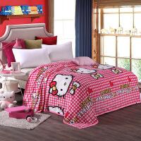 法兰绒毛毯办公室云貂绒毯子加厚毛巾被单双人床单毯法莱绒