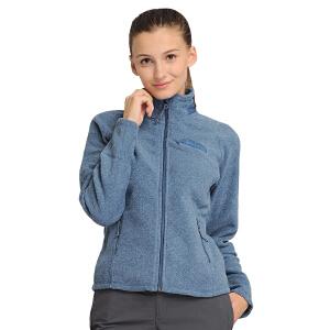 凯瑞摩karrimor 户外女款开衫抓绒衣 秋冬新品时尚外套 快干加绒保暖