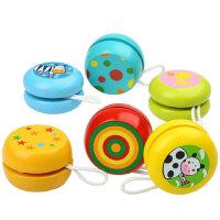 木制益智儿童卡通溜溜球木质彩色yoyo悠悠球 宝宝小孩玩具