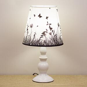 御目 台灯 欧式卧室床头简约创意宜家起夜喂奶可调光布艺节能小台灯护眼灯装饰台灯创意灯具