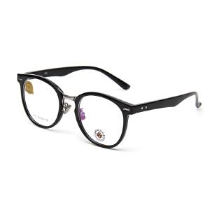 明治/KHDESIGN 眼镜框 黑框近视眼镜男女圆脸 大框板材眼镜架KS1717