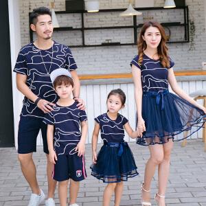 【当当年中庆】波柏龙 套装 亲子装情侣装套装 母女连衣裙 线条中长款连衣裙