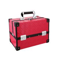 折叠化妆箱手提大号多层纹绣工具箱美容化妆品收纳箱