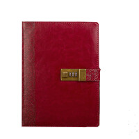 卡杰带锁密码本日记本手帐创意复古活页记事本文具笔记本子可定制
