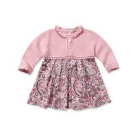davebella戴维贝拉女童秋装新款宝宝碎花连衣裙 婴儿裙子