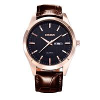 多姆(DOM)手表 皮带男表防水男士商务手表经典复古石英腕表